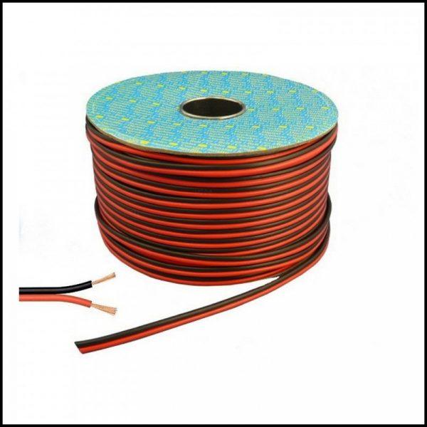 Cavo per casse acustiche stereo da 1,5 mm rosso-nero ( 1 metro )