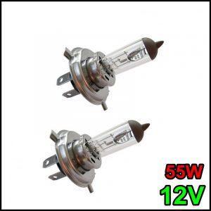 COPPIA LAMPADINA H4 12V 55W/60W P43t
