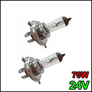 COPPIA LAMPADINA H4 24V 70W/75W P43t