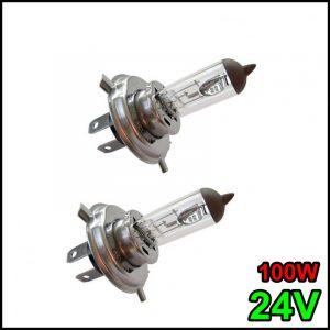 COPPIA LAMPADINA H4 24V 90W/100W P43t