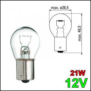 LAMPADINA 1 FILAMENTO BA15YS 12V 21W