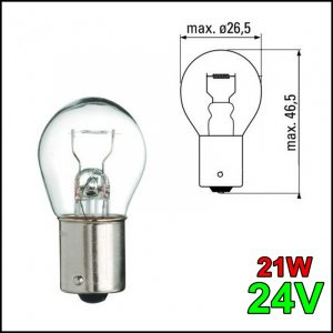 LAMPADINA 1 FILAMENTO BA15YS 24V 21W