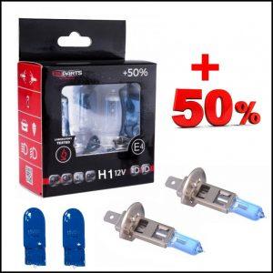 COPPIA LAMPADE H1 12V 55W + 2 T10 Effetto Xenon +50% Luce