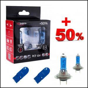 COPPIA LAMPADE H7 12V 55W + 2 T10 Effetto Xenon +50% Luce