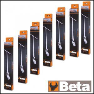 Serie di 7 chiavi a T con bussola esagonale snodata