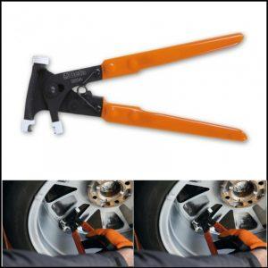Pinza per la rimozione dei piombi adesivi di equilibratura ruote Beta