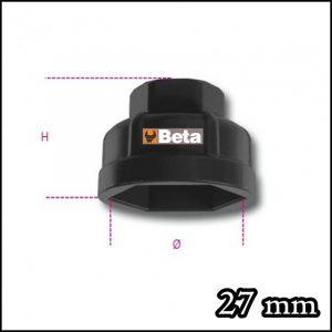 Chiavi a bussola esagonale per cartucce filtri olio 27 mm