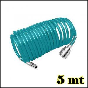 Tubo a spirale per compressore 5 mt gonfiaggio gommista professionale