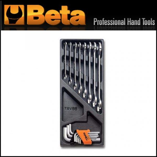 Modulo rigido + chiavi a forchetta e chiavi maschio esagonali piegate