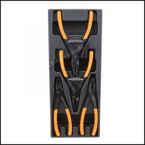 Serie di 4 pinze per anelli elastici di sicurezza