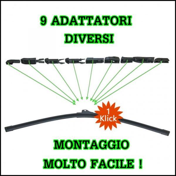 Spazzole Tergicristallo Anteriori 600/450mm