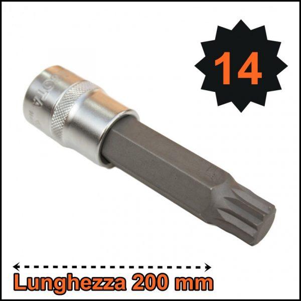 BUSSOLA PER VITI XZN MILLERIGHE LUNGHEZZA TOTALE 200 mm