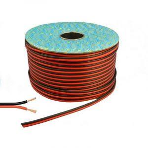 Cavo per casse acustiche stereo da 0,75mm rosso-nero ( 1 metro )