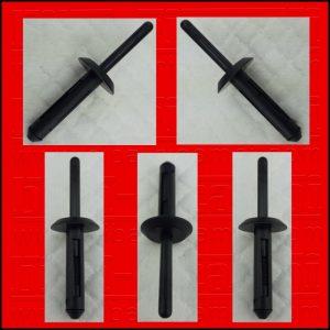 5 X RIVETTI IN PLASTICA FORD | GM | BMW | CHRYSLER | VW N8030433 | 14063981 | 6500911