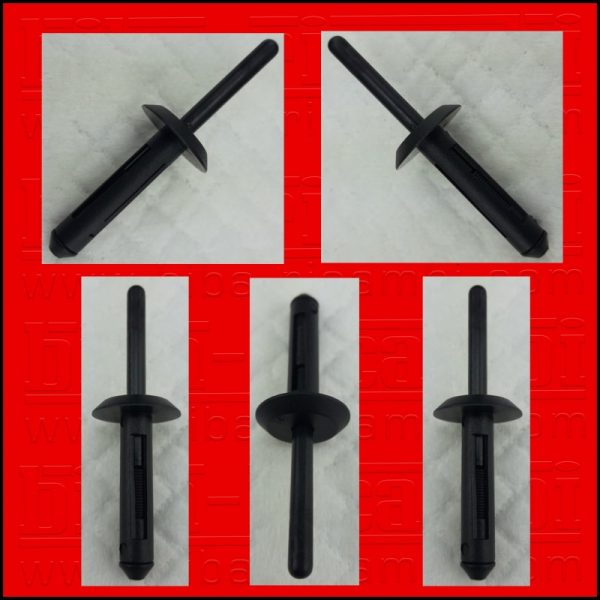 5 X RIVETTI IN PLASTICA FORD | GM | BMW | CHRYSLER | VW O.E.M N804675S | 6503860