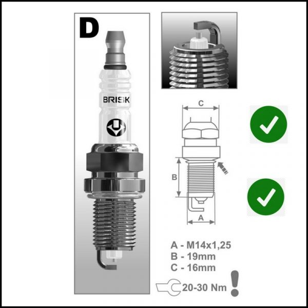 Candela Gpl Metano Brisk Silver Motori : BGU | BSE | BSF | CCSA | CMXA
