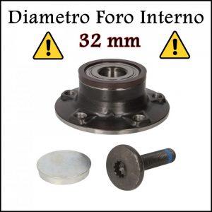 D. Cuscinetto Ruota Posteriore Diametro Foro Interno da 32 mm