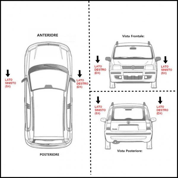 C. Kit Tamponi Gommini Parapolvere Per Ammortizzatori Posteriori ( non compatibile per vetture sportive)