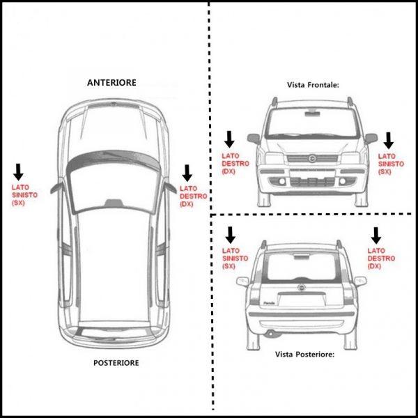 V. Cornice Supporto Fendinebbia Lato SX-Guidatore