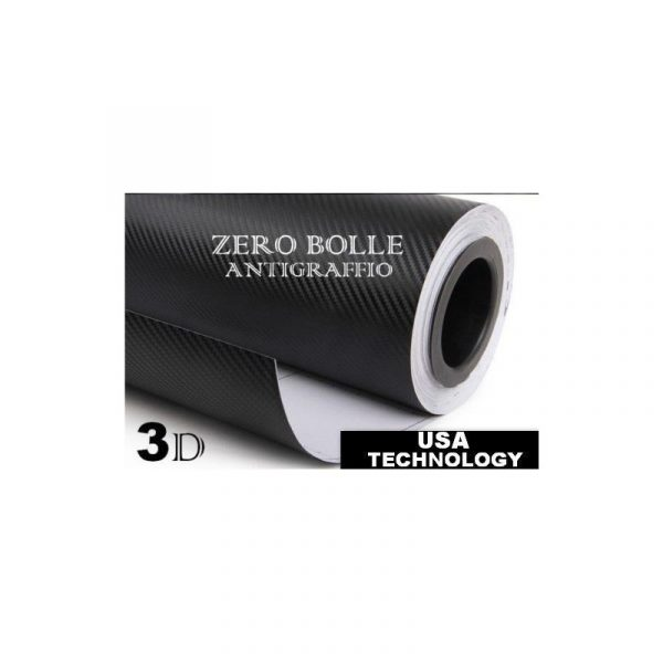 Pellicola 3D in fibra di carbonio adesivo per tuning wrapping 250 x 350 mm