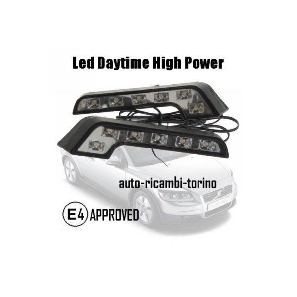 LED AUTO DAYTIME RUNNING LIGHTS KIT LUCI COPPIA DIURNE A 6 LED
