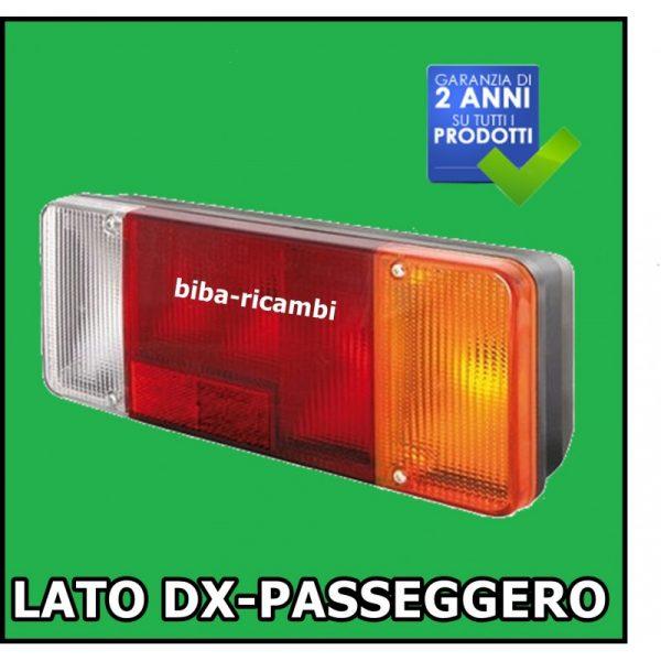 VETRO RICAMBIO FANALI IVECO LATO DX-PASSEGGERO