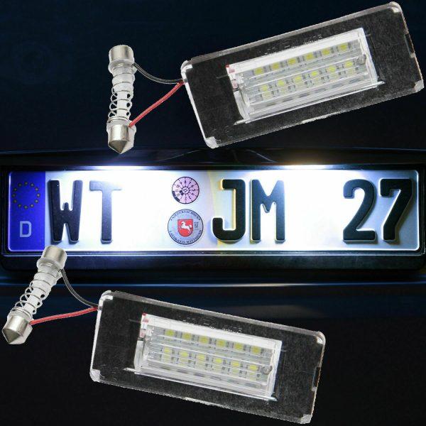 Lampadine Placchette Luci Targa Led Specifiche Adattabile Mini (R57) Cabriolet dal 2007-2015