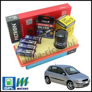 Kit Tagliando Filtri | Candele Per Fiat Stilo 1.200 GPL 59kw/80cv dal 2001>