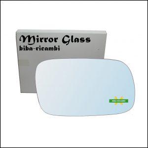 Vetro Specchio Retrovisore Cromato Lato Dx-Passeggero Per Subaru Forester II (SG) solo dal 2002-2007