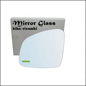 Vetro Specchio Retrovisore Cromato Lato Sx-Guidatore Per Smart ForFour II (453) dal 2014>