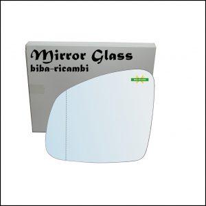 Vetro Specchio Retrovisore Cromato Asferico Lato Sx-Guidatore Per Smart ForFour II (453) dal 2014>