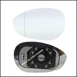 Piastra Specchio Retrovisore Completa Di Vetro Termico Asferico Lato Sx-Guidatore Per Abarth 500 / 595 / 695 dal 2008>