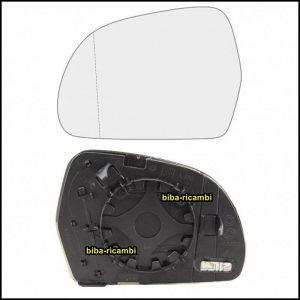 Piastra Specchio Retrovisore Asferico Termico Lato Sx-Guidatore Per Audi A3 II (8P1) solo dal 2008 fino al 2010