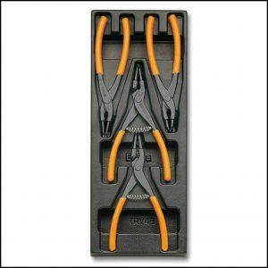 Set pinze per anelli elastici da 4pz. in termoformato Beta