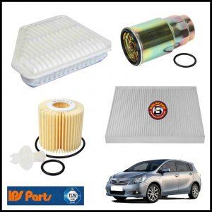Kit Tagliando Filtri Per Toyota Verso 2.000 D-4D 93kw/126cv dal 2009>
